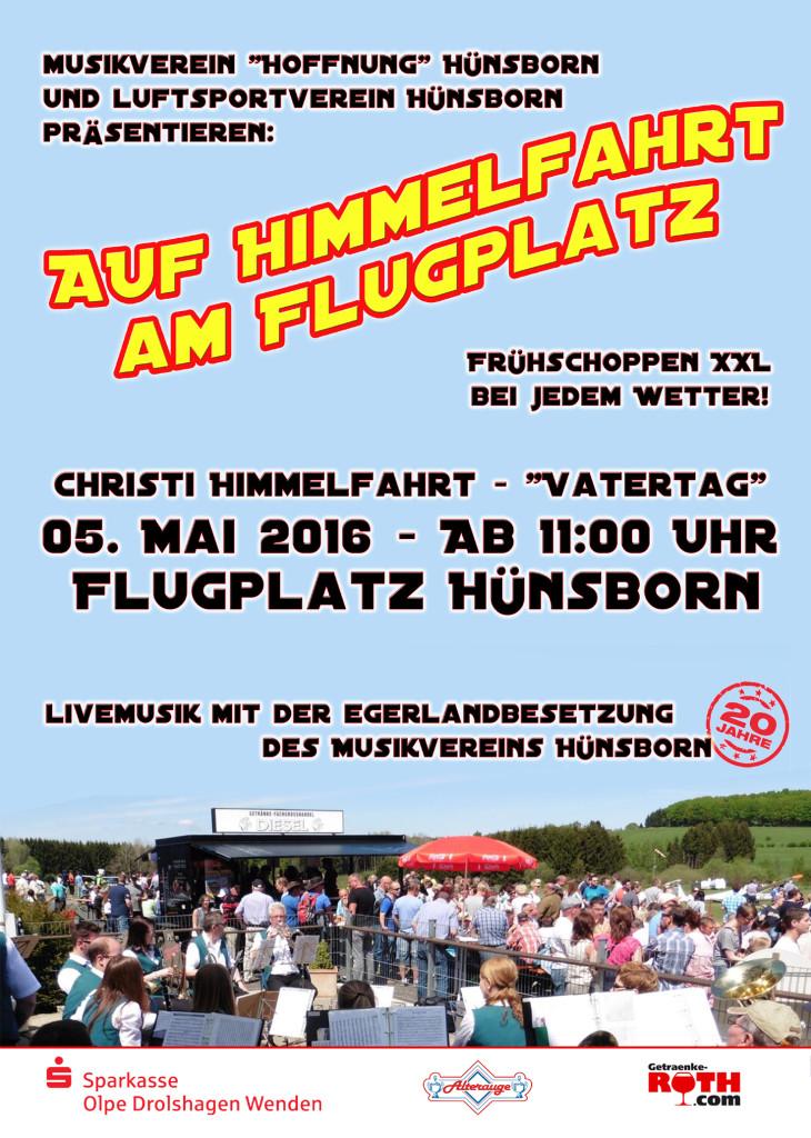 Auf Himmelfahrt am Flugplatz Hünsborn