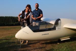 Flugzeugtaufe auf den Namen Dietrich Schreiber
